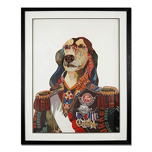 ADM - Retrato de perro con uniforme militar antiguo - Cuadro