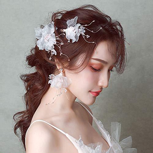 Coiffure de mariée, épingle à cheveux en gaze douce, robe de mariée photo de fée, accessoires faits à la main