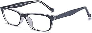 Kelens Women Clear Lens Glasses Retangular Fashion Frames with Stripe Print
