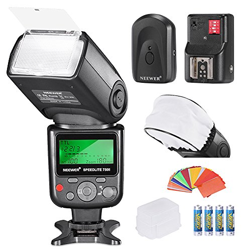 Neewer Pro i-TTLFlash Deluxe - Kit para cámara réflex Digital