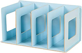 SanQing Rack de CD de Madera Plegable Rack de DVD Rack de Libros Rack de CD Soporte de DVD Estante de Almacenamiento de CD,Blue
