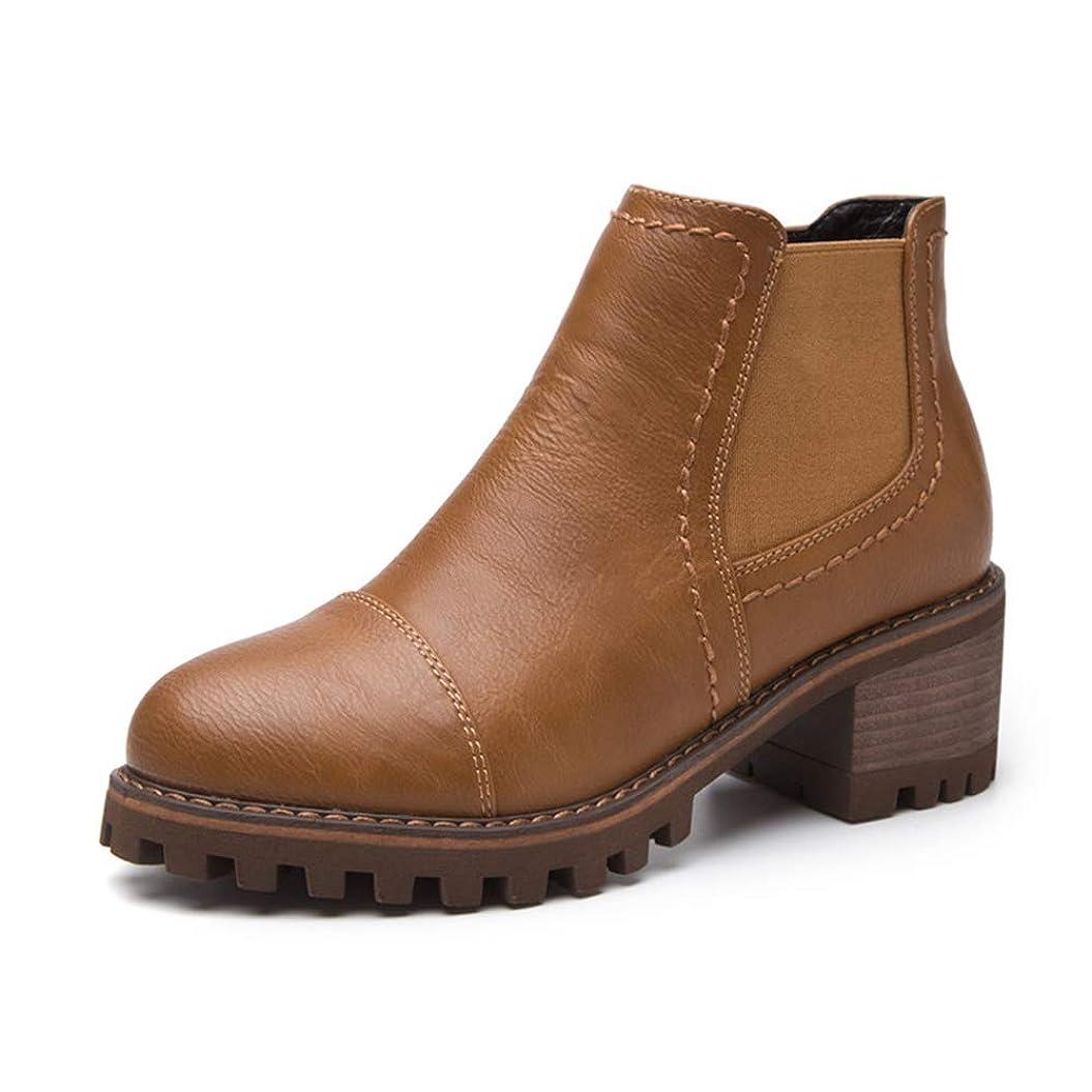エーカー繁栄する爪[モリケイ] チェルシーブーツ レディース サイドゴア タンクソール サイドジップ ブーツ チャンキーヒール 靴 ブラック ブラウン