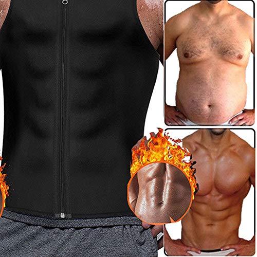 Ypnrd Chaleco para hombre con cremallera para sauna, color negro, XXL
