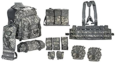 The Specialty Group US Army Military MOLLE II ACU Camouflage Rifleman Set (Assault Pack + FLC ect)