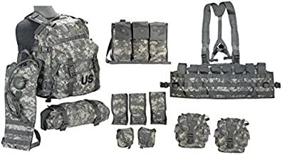 US Army Military MOLLE II ACU Camouflage Rifleman Set (Assault Pack + FLC ect)