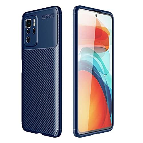WEIOU Fibra de Carbono Funda para ASUS ROG Phone 5, Carcasa Protectora Antigolpes Suave TPU Silicona Caso Anti-Choques Resistente a los Arañazos. Azul