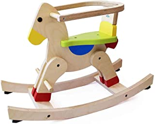 Riding your baby on Auto-balancing Rocking horse