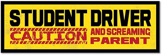Student Driver Warning Parent Funny L Plates Learner Car Sticker Decal