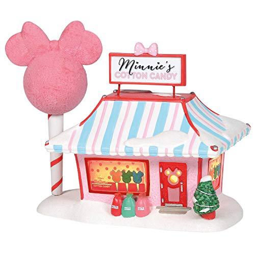 Department 56 Disney Village Minnie Cotton Candy Shop Lit Building, 7.5 Inch, Multicolor,6001318
