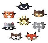 Petitebelle Masken mit Tiermotiv, für Kinder ab 2Jahren, zum Verkleiden, für die Augenpartie,...