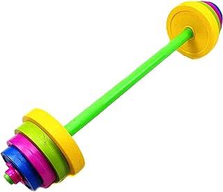 IMIKEYA 1 Set Children Barbell Durable Practical Body building Prime Barbell Dumbbell for Fitness Children Sport Kids (Long Type)