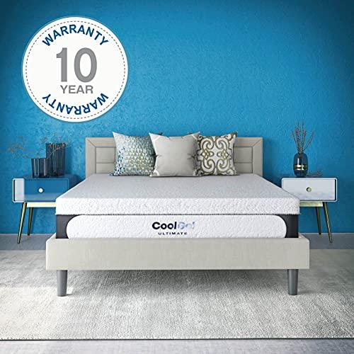 Classic Brands Cool Gel 1.0 Ultimate Gel Memory Foam 14-Inch Mattress with BONUS 2 Pillows, King