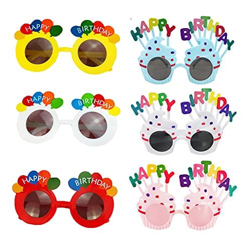Gafas de Fiesta Sonwaha 12 PCS Gafas de Cumpleaños Prop Party Supplies Muy Adecuado Novedad Juguete para Fiestas de Cumpleaños