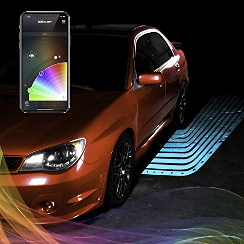 CurbFX 2pc Bluetooth XKchrome App Control Waterproof LED Projector Welcome Light Angel Wing Style