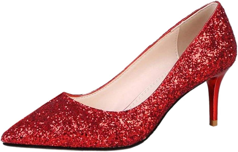 BeiaMina Women Fashion Stiletto Court shoes Pointed Toe