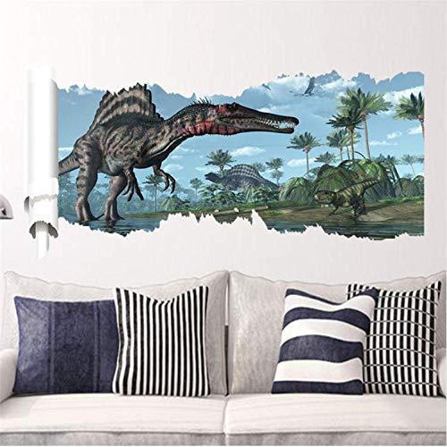 Wandaufkleber 3D Dinosaurier Home Decoration Pvc Wohnzimmer Zeitraum Tiere Drucken Aufkleber Wandbild Kunst Tapete Fenster Poster 46X90 cm A