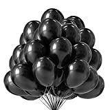 100 Pieces Black Party Balloons KINBON 12 Inch Latex Balloons for Party Decoration Birthday Party Wedding