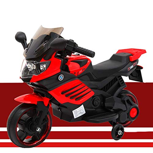 Baybee Super Sport Rechargeable Battery Operated Ride-on Bike and Baby Ride on/Kids Ride on Toys -Kids Bike - Baby Bike for Kids to Drive Toys Car Suitable for Boys & Girls Age 1-4 Years (Red)