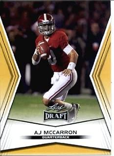2014 Leaf Draft Edition Football A.J. McCarron Alabama Cincinnati Bengals Rookie Card #DE-8