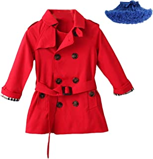 Kids Boys Trench Coat Toddler Girls Windbreaker Autumn Spring Jacket Children Outwear British Coats Camel 2-6T