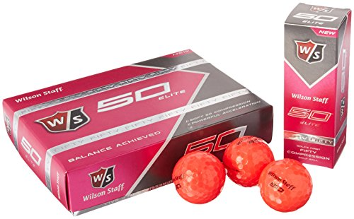 Wilson Staff Fifty Elite Golf Balls (12-Pack), Pink