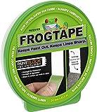 FrogTape Abklebeband – Malerkreppband mit Paint-Block Technologie – Kreppband für saubere Kanten beim Streichen & Lackieren – 24mm x 41m