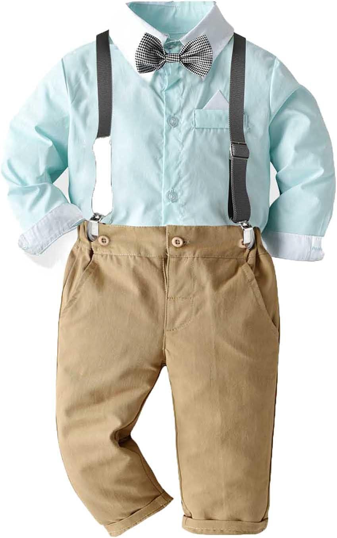 Toddler Dress famous Suit Baby Boys Clothes + Sets Suspen OFFicial store Shirts Bowtie