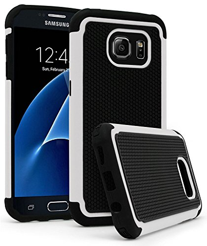 Galaxy S7 Case, Bastex Heavy Duty Hybrid Armor Premium Dual Shock Protective Phone Case for Samsung Galaxy S7 (White)