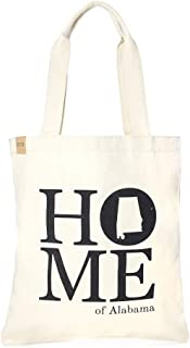 Me Plus Eco Cotton Canvas State Home Printed Fashion Shopping and Travel Tote Bag