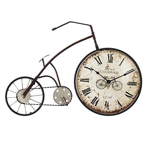 FPigSHS Orologio da Parete 5 Stili Campana Pendolo Romano Numeri Decorazione Vintage Ferro Arte Decorazione Bicicletta Facendo Una Vecchia Bici (Colore : D)