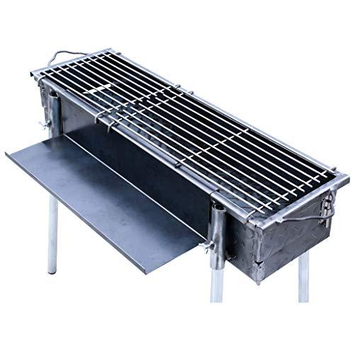 SHENXINCI Patrón De Acero Barbacoa De Carbón Portátil Parrilla Barbacoa Plegables para Cocinar Camping Senderismo Picnics (para 2-6 Personas)