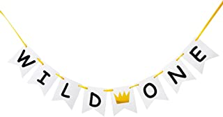GRACE.Z Wild One Banner, Baby's First Birthday Party Decorations/1st Birthday Photo Props