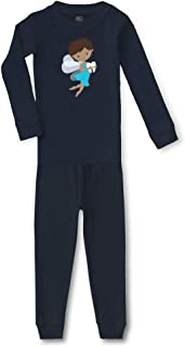 Tooth Fairy Blue B Cotton Crewneck Boys-Girls Sleepwear Pajama 2 Pcs Set