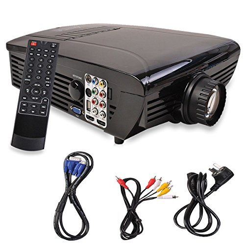 Mascarello BEST HD Home Theater Multimedia LCD LED Projector 1080-HDMI TV DVD Playstation