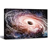 Scott397House Pictures Prints, Amazing Black Hole Galaxy Outer Space Framed Canvas Print Wall Art Wall Art for Office Living Room 20X25
