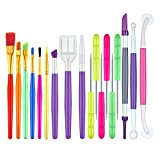 18 Pack Sugar Cookie Decorating Tools Royal Icing Tools Fondant Cake Candy Paint Brushes Cookie Supplies Fondant Gum Paste Sugar Scriber Needles for Cookie Cake Fondant Decoration Supplies