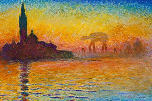 Poster Foundry Imperial Assault at Dusk in Venice by Monet Parody Art Humor Stretched