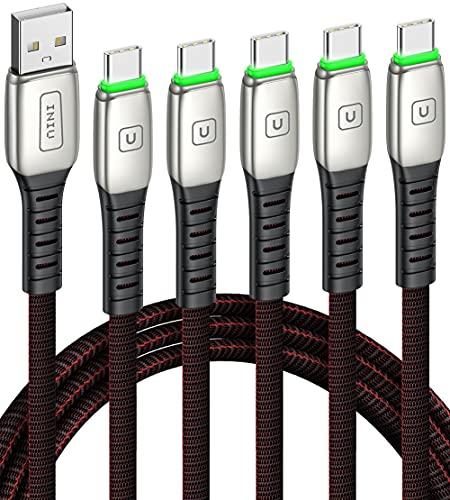 Cavo USB Type-C, INIU [5 Pezzi 0.5+1+1+2+2m] Cavo USB C Ricarica Rapida 3,1A QC Cavo Tipo C in Lega di Zinco Cavi Dati Compatibili con Samsung S21 S20 Note 20 Ultra LG Google Huawei Xiaomi OPPO ECC.