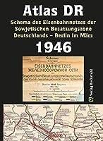 ATLAS DR 1946 - Schema des Eisenbahnnetzes der Sowjetischen Besatzungszone Deutschlands: EISENBAHN-VERKEHRSKARTE - Deutsch/Russisch