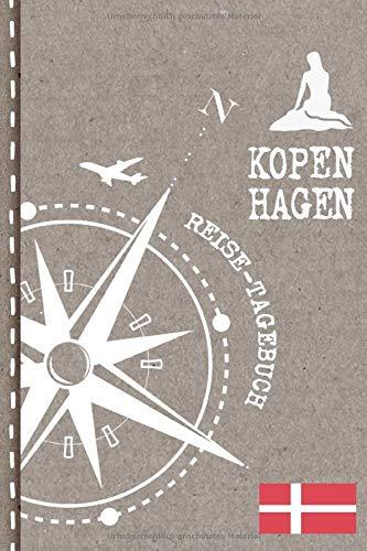 Kopenhagen Reisetagebuch: Reise Tagebuch zum Selberschreiben, ca. A5 - Journal Dotted Punkteraster, Bucket List für Urlaub, Ferien Trip, Auslandsjahr, ... Auswanderer - Notizbuch Dot Grid punktiert