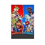 DRAGON VINES Empire - Póster de Super Mario Bros Mario Sonic The Erizo (20 x 30 cm)