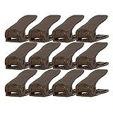サンコープラスチック シューズホルダー ブラウン 約幅10.7×奥行26.5×高さ8.5cm シューズストッカー シングル 426284 12個入