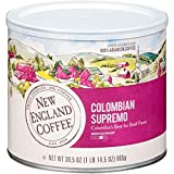New England Coffee, Colombian Supremo, Medium-Roast Coffee, 30.5 Oz Can, Canister