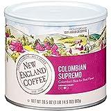 New England Coffee Colombian Supremo Medium Roast Ground Coffee 30.5 oz. Canister