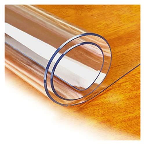 Mantel Transparente Impermeable Resistencia A Altas Temperaturas Mantel de Plástico PVC Usado para Restaurante, Cocina, Gabinete de TV, 3 Espesores, 21 Especificaciones