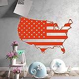 wZUN Etiqueta engomada de la Pared del Mapa Americano de la decoración de la Oficina de la Escuela de la compañía del...