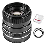 PERGEAR 35mm F1.2 Large Aperture Manual Focus Fixed Lens Compatible with Sony NEX/FS5/A6000,A6100,A6300,A6400 APS-C mirrorless Camera