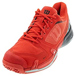 Wilson mens Rush Pro 2.5 Pickleball Tennis Shoe, Red/Black/Pearl Blue, 10 US
