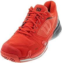 Wilson mens Rush Pro 2.5 Pickleball Tennis Shoe, Red/Black/Pearl Blue, 10 US