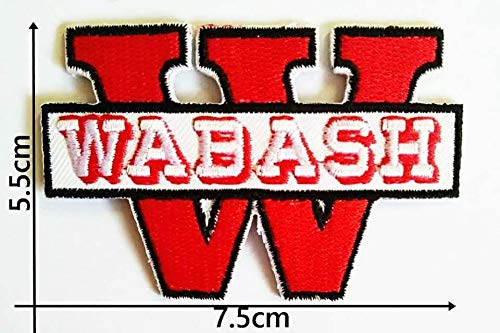 Wabash College Sports Patches Logo Embroidery Iron,Sewing on Clothes